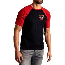 T-Shirt negro/red, New York City Fire Dept. Emblem on front