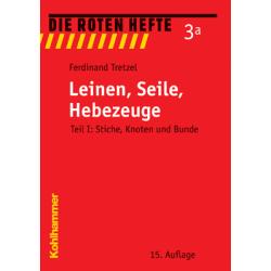 """Libro: rojo Heft 3a """"Leinen,Seile,Hebezeuge"""""""