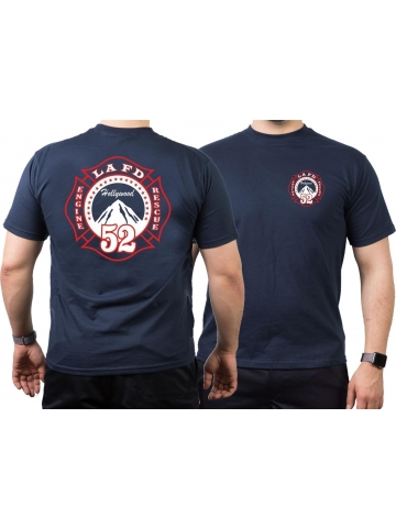 T-Shirt navy, Los Angeles Fire Dept. Hollywood - Station 52