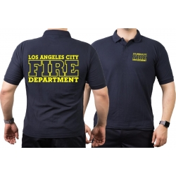 Poloshirt navy, Los Angeles City Fire Department, neon...