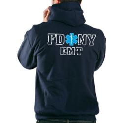 Chaqueta con capucha azul marino, New York City Fire...