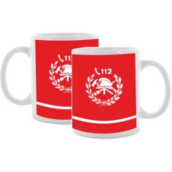 Tasse (Tazza) Vigili del Fuoco, rosso con emblema bianco...