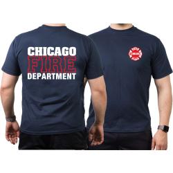 CHICAGO FIRE Dept. Standard white/red, azul marino T-Shirt