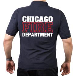 CHICAGO FIRE Dept. Standard white/red, azul marino Polo