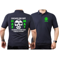 CHICAGO FIRE Dept. HAZ MAT Incident Team green, navy Polo