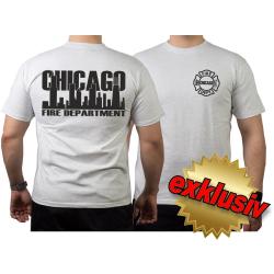 CHICAGO FIRE Dept. Skyline black, ash T-Shirt