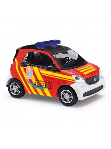 Model car 1:87 Smart Fortwo, Pkw, Fl. Alsfeld 01/16-01, FF Alsfeld (HES)