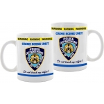 """Tasse New York City Police Department - Crime Scene Unit - """"Do not touch my coffee"""""""