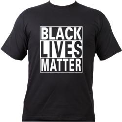 T-Shirt negro, negro LIVES MATTER