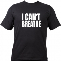 T-Shirt negro, I CANT BREATHE