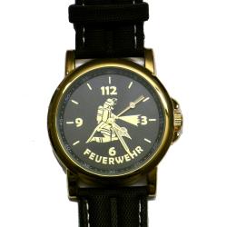 "Feuerwehr-Armbanduhr ""112"" - vergoldet"