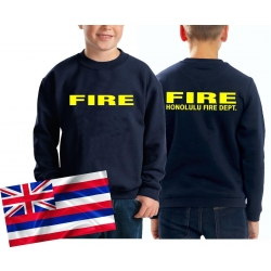 Kinder Sweatshirt navy, Honolulu Fire Dept. (Hawaii),...
