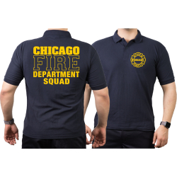 CHICAGO FIRE Dept. SQUAD, navy Poloshirt L