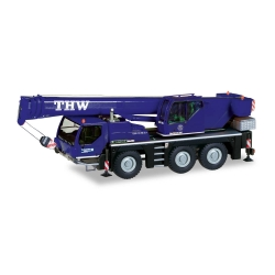 Model car 1:87 Liebherr Mobilkran LTM, THW