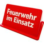 """Dachaufsetzer """"Feuerwehr im Einsatz"""" verkehrsred/white font (Exklusiv)"""