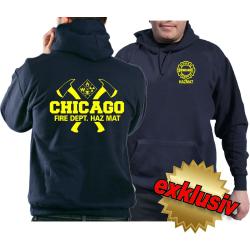 CHICAGO FIRE Dept. HAZ MAT axes and Hazard Diamond en...