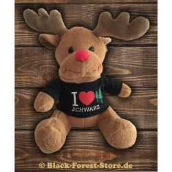 "Black-Forest-Hirsch ""I Love black forest""..."