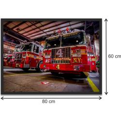 "Kunstdruck ""FDNY Ladder 4 / Engine 54"" im black..."