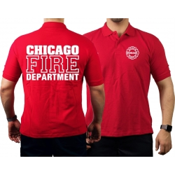 CHICAGO FIRE Dept. Standard, red Polo