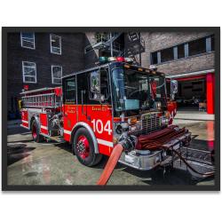 """Kunstdruck """"Chicago Fire Dept. Engine 104"""" im..."""