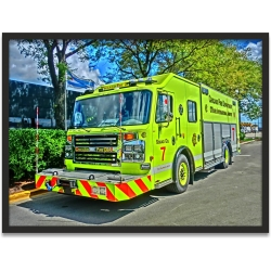 Kunstdruck Chicago Fire Dept. Squad 7 - Chicago OHare...