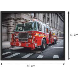 "Kunstdruck ""FDNY Engine 3"" im black Rahmen 80 x..."