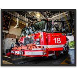 """Kunstdruck """"Chicago Fire Dept. Engine 18"""" in..."""