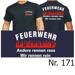 """T-Shirt nero, """"Wir machen Hausbesuche"""" - Das..."""