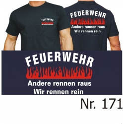 "T-Shirt noir, ""Wir machdans Hausbesuche"" - Das..."