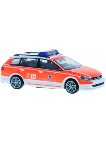 Model car 1:87 VW Golf 7 Variant, VTF (Versorgungstransportfahrzeug), Funk: 50/2, FF Wolfratshausen (BAY)