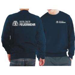 Sweat navy, Berliner Feuerwehr+Logo, XL (Einzelstück)