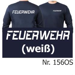 """Sweat navy, FEUERWEHR Schriftzug """"O"""" in..."""