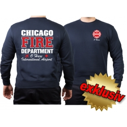 CHICAGO FIRE Dept. ARFF Chicago O-Hare, azul marino Sweat