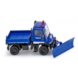 Model car 1:87 MB Unimog U400 with Räumschild, THW