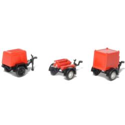 Kit 1:87 Feuerwehr-Einachsanhänger (3 Stück)