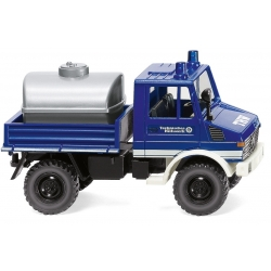Model car 1:87 MB Unimog U 1300 with Tankaufsatz THW