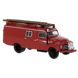 Model car 1:87 Opel Blitz LF 8 (1952) red with reden...
