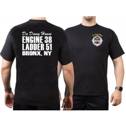 T-Shirt black, New York City Fire Dept. E38/L51 - Da Dawg...