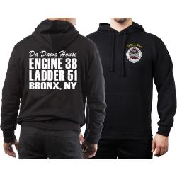 Hoodie black, New York City Fire Dept. E-38/L-51 Da Dawg...