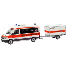 Model car 1:87 MAN TGE Bus HD with Anhänger, BRK...