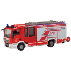 Model car 1:87 MAN TGL, Ziegler Z-Cab, HLF, BF Regensburg...