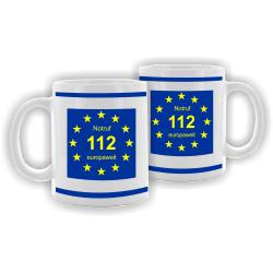 Tasse: Notruf 112 europaweit