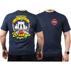 T-Shirt navy, New York City Fire Dept. Brooklyn Bridge...