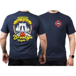 T-Shirt azul marino, New York City Fire Dept. Brooklyn...
