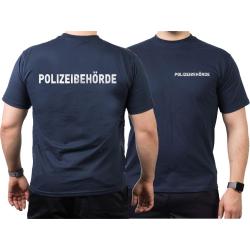 T-Shirt blu navy, POLIZEIBEHÖRDE nel...
