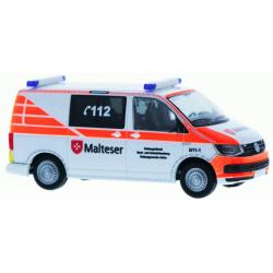 Model car 1:87 VW T6, ELW für OrgL, Malteser Aalen...