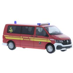 Model car 1:87 VW T6, MTW, FF Herbolzheim (BaWü)