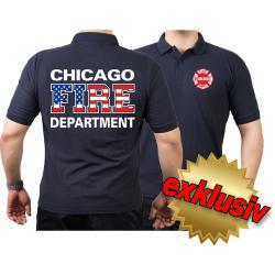 CHICAGO FIRE Dept. Flag-Edition, azul marino Polo