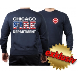 CHICAGO FIRE Dept. Flag-Edition, navy Sweat