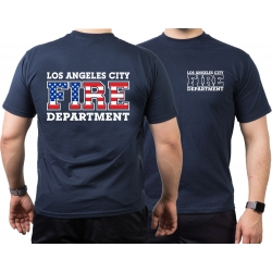 T-Shirt navy, Los Angeles City Fire Department Flag-Edition